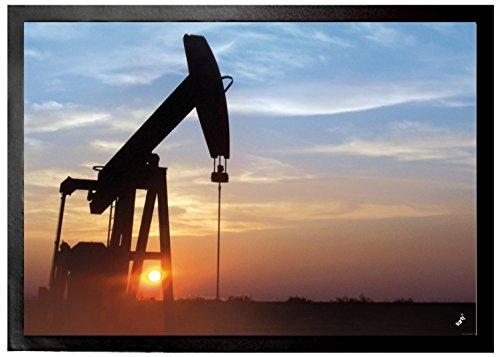 1art1® Arte Industrial - Ocaso En El Oeste De Texas Bomba Petrolífer