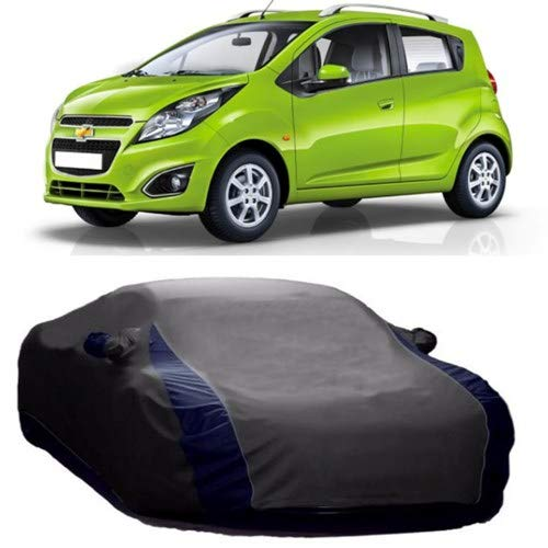 Dream Store Dream Store Persent Quality & Water Resistant Car Cover for Chevrolet Beat (Vshape Grey with Mirror Pockets)