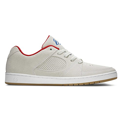 eS Accel Slim Grey/White/Gum Blanc/Rouge