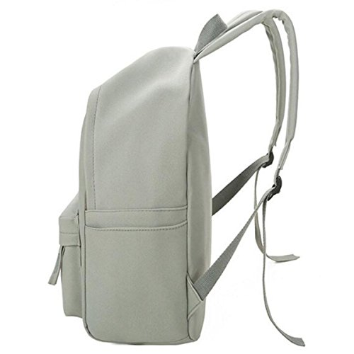 Lady Scrub Borsa In Pelle Di Spalla Scuola School Backpack Girl,Gray Beige