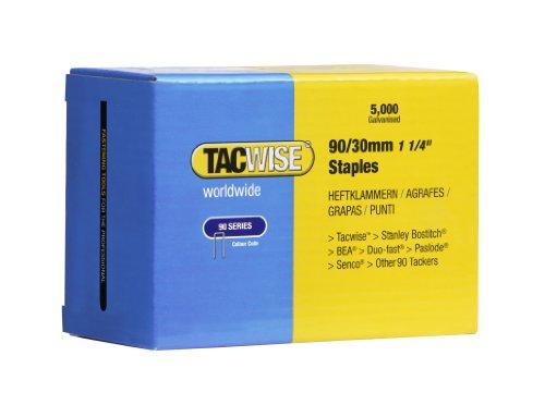 Tacwise Boîte de 5000 agrafes à couronne étroite 90/30 mm