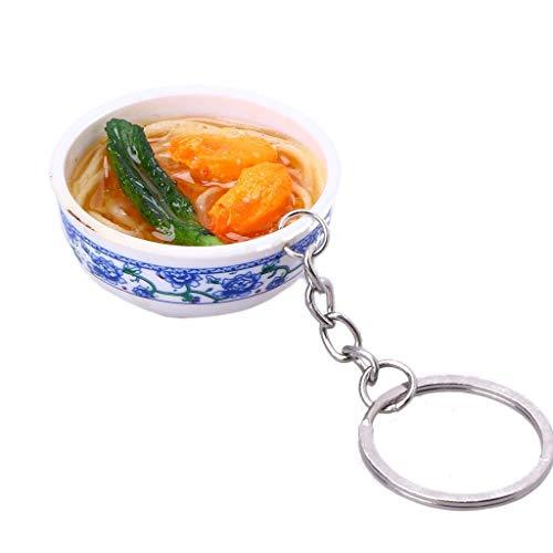 Simulation Mini Küche Lebensmittel Schlüssel Anhänger chinesischen Stil Nudeln verfügt über kleine Schmuck Auto Rucksack Schlüssel Anhänger kreative kleine Geschenke ()