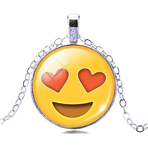 Liebe Engel Collana Espressione Per Emoji Vetro