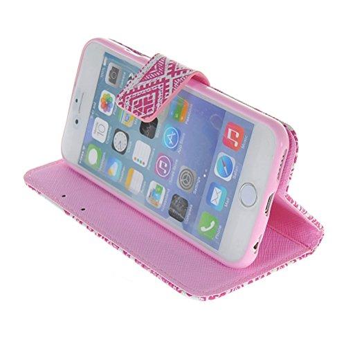 MOONCASE Coque en Cuir Portefeuille Housse de Protection Étui à rabat Case Pour Apple iPhone 6 ( 4.7 inch ) 10