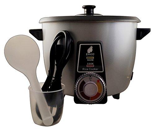 Voll Automatischer Reiskocher mit Reiskuchen Reiskruste Tahdig Herstellungsfunktion (4-6 Personen, Grau)