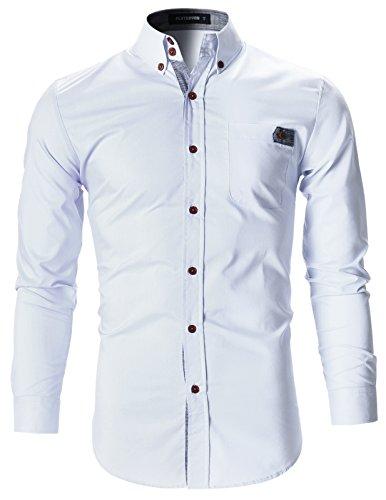 FLATSEVEN Herren Designer Slim Fit Business Hemden