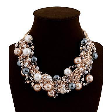 n Statement Halskette/Perlenkette - Perle Damen, Luxus, Festival/Holiday Schmuck für Hochzeit, Party, besondere Anlässe,Rainbow ()
