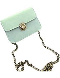 Sannysis® Precioso bolso de cuero de la muchacha; Mini Pequeña bolsa de hombro ajustable (Verde)