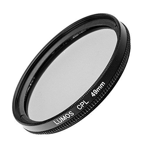 LUMOS Polfilter zirkular 49mm Slim | Kamera Objektiv CPL Pol Filter Polarisationsfilter | optisches Glas schmale Metallfassung Frontgewinde 49 mm für Panasonic Sony Canon Nikon