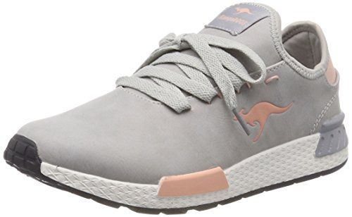 KangaROOS Damen W-800 Sneaker, Grau (Vapor Grey/English Rose), 40 EU