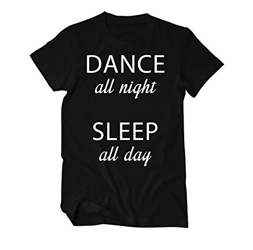Dance all night sleep all day T-Shirt Herren Schwarz