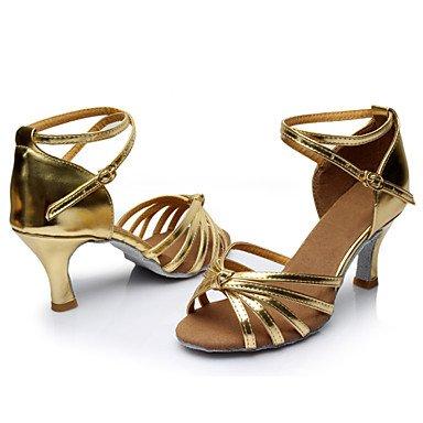 Silence @ pour femme Chaussures de danse latine/danse Sneakers Soie Talon Noir/rose/rouge/multicolore/fuchsia/autre bordeaux