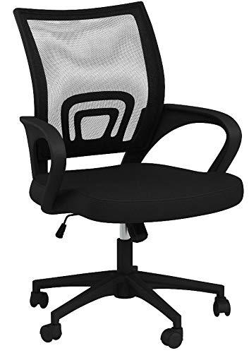 Yaheetech Bürostuhl Schreibtischstuhl ergonomischer Drehstuhl Chefsessel mit Mesh Netz Wippfunktion Höhenverstellbar