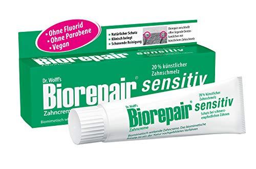 Biorepair Zahncreme sensitiv, 75ml - Ohne Fluorid und Parabene, für schmerzempfindliche Zähne