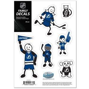 Siskiyou NHL Aufkleber-Set für kleine Familie, Aqua, Small Nhl-aufkleber