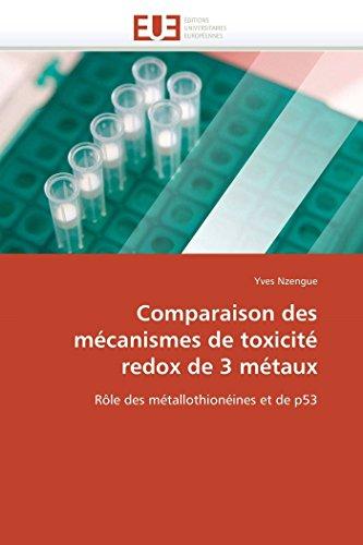 Comparaison des mécanismes de toxicité redox de 3 métaux: Rôle des métallothionéines et de p53 (Omn.Univ.Europ.)