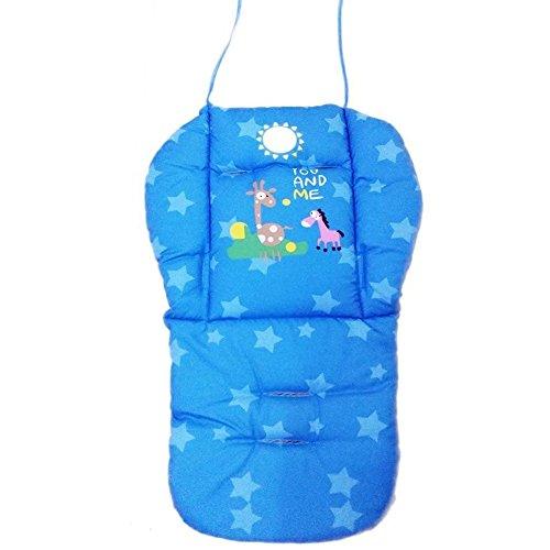 Hochstühle Für Babys Decken (Natural Home Universal Kinderwagen Sitzkissen Baby Sitzauflage Baumwolle, Buggy Auflage (Blau))