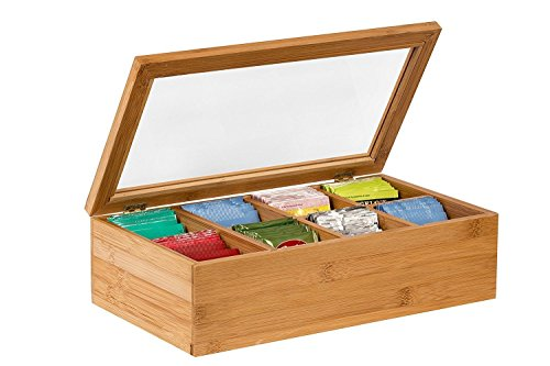 Whitewhale Tea Box Storage with Glass Window
