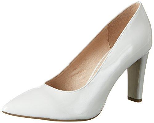 Caprice 22405, Scarpe con Tacco Donna Bianco (White Patent)