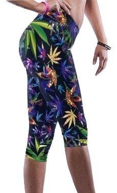 New da donna, multicolore, motivo: Stampa con foglie d'acero, Crop-Leggings Capri Pants Fancy Dress Club abbigliamento Casual da indossare unica 10-12