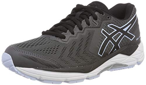 Asics Damen Gel-Foundation 13 Laufschuhe, Grau (Dark Grey/Black 020), 37 EU