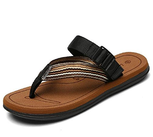 YEEY Open toe tacco piatto Pantofole Rotondo peep Plantform Sandali donna estate spiaggia post sandali infradito scarpe Brown