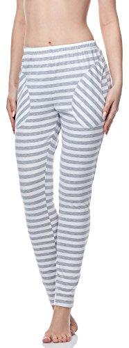 Merry Style Pantaloni del Pigiama Donna MS10-133 Strisce Melange