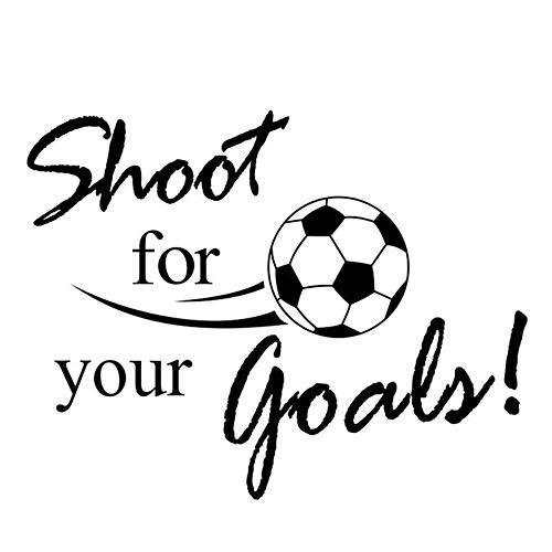 L22LW Wandtattoos Ihre Ziele Fußball Fußball Removable Aufkleber Wandaufkleber Ausgangsdekor Sport Wallpaper Wohnzimmer Aufkleber -