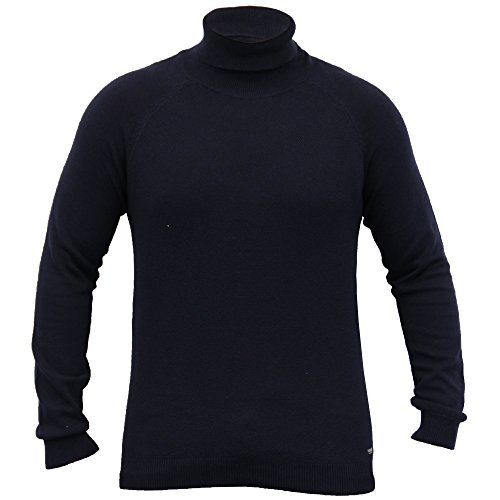 Pull Homme Threadbare Pull Tricot Polo Col Roulé Pull Hiver Marine - IMV020PKA