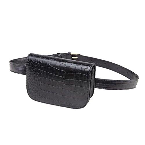 Vbiger PU Sac de taille en cuir Chic Fanny Pack pour les femmes sac banane  femme 6ae8e084bdc