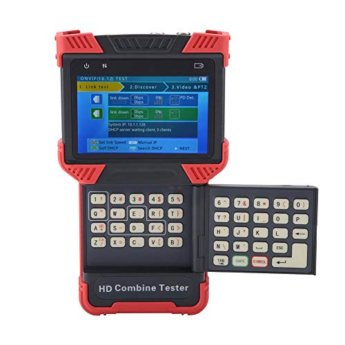 Akozon IP-Kamera Tester HD CCTV Tester Monitor 5 in 1 Multimeter Analoger Koaxial-Videomonitor Tester 4 Zoll IPS-Bildschirm Unterstützung H.264 / H.265 / 4K (DT-T72)(EU Stecker) -