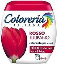 Coloreria Italiana Grey Colorante Tessuti e Vestiti in Lavatrice, Rosso Tulipano, 1 Confezione
