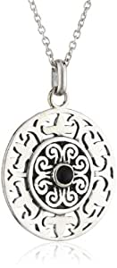 Dew Sterling Silver Ethnic Disc Pendant 98193BA006 of 45.5cm