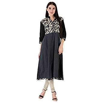 Tirupati Choice Women's Cotton Kurta (TC008-L, Multi Color, Large)