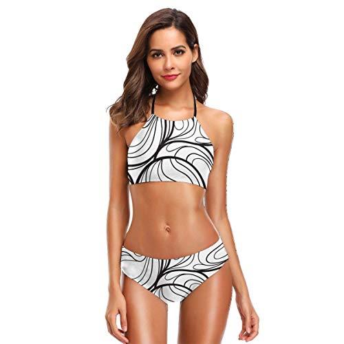Women's Halter Bikini Set 2 Piece Art Swimsuit Beach Suit XXL