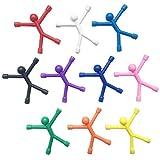 10 unids Novedad Mini Hombre Imanes de nevera flexibles, Imán de Goma Lindo Hombres Imanes de...