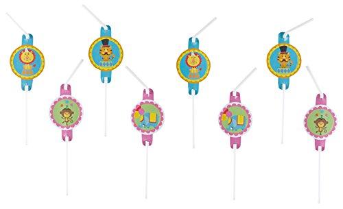 8 Pailles «cirque» pour anniversaire ou fête placée sous le signe/998576 kinderparty pour enfant pailles drinking pailles fISHER pRICE fischer circus