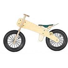 DipDap Luxus Holz Kinder Fahrrad Kinderfahrrad Laufrad Balance-Bike Grün 400093