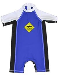 Fedjoa - Bañador con protección solar UV para bebé - SHARKS - Creador Francés