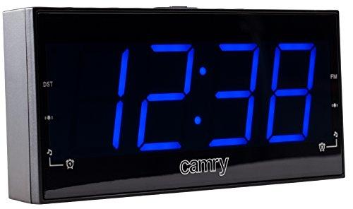 Uhrenradio | Radiowecker | Dual Alarm | XXL 1,8 Zoll LED Display | Dimmerfunktion | Helligkeitsregler Schlummerfunktion | Backup-Funktion |