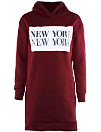 5a800b4c80 Oops Outlet Womens Ladies Oversized Stretchy Sweatshirt Pullover Baggy  Longline Mini Dress
