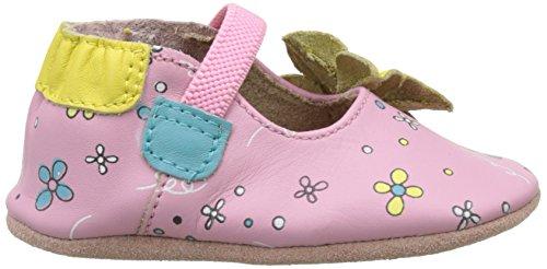 Robeez Flower Power, Chaussures de Naissance Bébé Fille Rose (Rose)