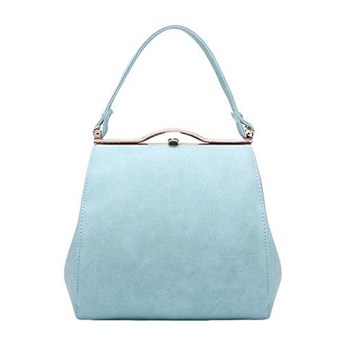 Damen Handtasche Diagonal Paket Mode Damen Wilde Schulter Tasche Sperre Hand Einfach Blue