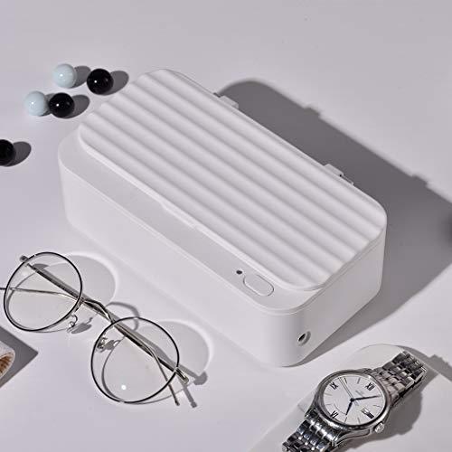 Mini Ultraschall Waschmaschine Smart Ultraschallreiniger Haushalt Waschmaschine Übernehmen Halsketten Schmuck Ohrringe Brille Uhren Zahnprothesen-Weiß
