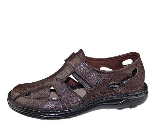 Hommes Velcro Sandales Marcher Mode Casual Summer Beach Slipper Chaussures en cuir Mild Brown
