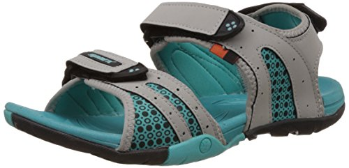Sparx Women's Grey and Sea Green Sandals and Floaters- 6 UK (SS0443L)