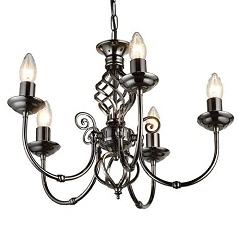 Classic 5 Arm Light Fitting Pewter