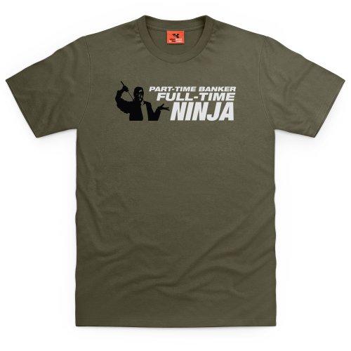 Square Mile Full Time Ninja T-Shirt, Herren Olivgrn