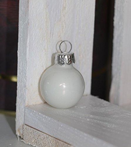 24 Stk GLAS Weihnachtskugeln Christbaumkugeln weiß opal farben Dekokugeln Glaskugeln Chirstbaumschmuck Christbaumdeko matt glänzend Deko Kugeln