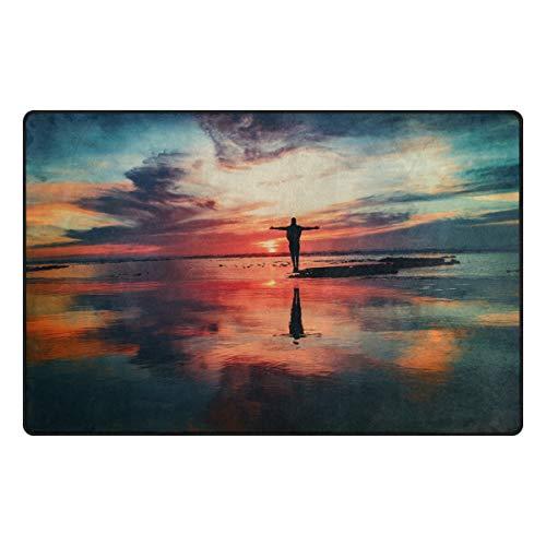 HEOEH Beauty Sence Ocean Sky Fußmatte, rutschfest, für Innen- und Außenbereich, 79 x 51 cm 31 x 20 inch Mehrfarbig